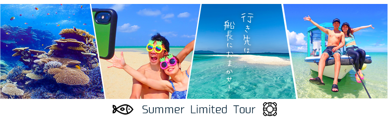 夏季限定のんびりシュノーケルツアー